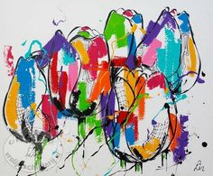 portret dieren schilderen abstract - Google zoeken