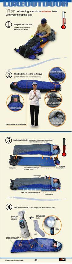luxeoutdoor.jpg : 추울 때의 침낭 보완 팁