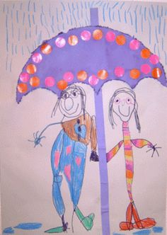Umbrella Crafts for kids April showers bring May flowers! It's been a rainy week around here, which inspired me to create this umbrella craft with [. April Rain, Art For Kids, Crafts For Kids, Spring Projects, Autumn Crafts, My Children, Coloring Pages, Activities For Kids, Preschool