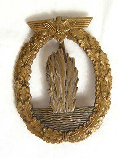 Kriegsmarine Minesweeper badge. Excellent early war example.