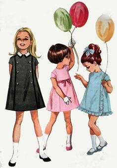 1960s McCall's 7994 Cutest Mad Men Era Girl's Five Panel Dress 60s Vintage Sewing Pattern Size 4 UNCUT