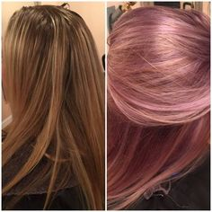 TRANSFORMATION: Pretty Blonde To Purple, Blush and Gold - Career - Modern Salon