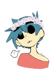 he looks so cute with that flower crown 😭 2d And Murdoc, 2d And Noodle, Sunshine In A Bag, Character Art, Character Design, Monkeys Band, Cool Bands, Music Artists, Memes
