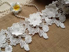 White Lace, Luxury Bridal Lace, Wedding Lace Trim for Bridal, Altered Couture or Art, Costume Design