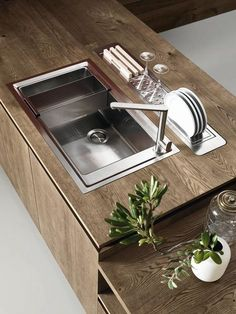 36 ideas for kitchen interior details modern Kitchen Worktop, Kitchen Pantry, Kitchen Sink, Kitchen Organization, Kitchen Storage, Kitchen Without Handles, Kitchen Furniture, Kitchen Decor, Kitchen Ideas