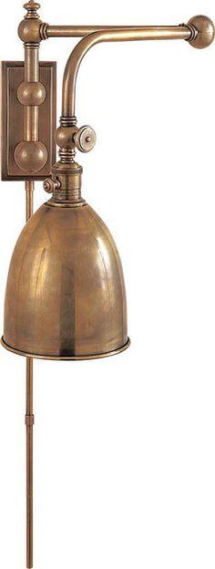 double swing arm wall lamp photo - 7