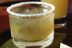 Beer Margaritas Shot of tequila with frozen limeade mixed with light beer of choice - plus lime and kosher salt.