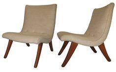 Pair of Domus 'San Miguelito' Chairs by Michael Van Beuren, circa 1950 | 1stdibs.com