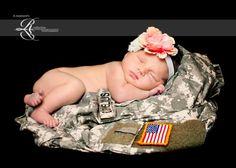 Military newborn picture idea