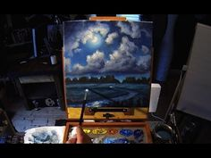 Full Moon River - Acrylic Painting Lesson For Beginners In Real Time Canvas Painting Tutorials, Acrylic Painting Lessons, Moon Painting, Time Painting, Painting Videos, Acrylic Painting Canvas, Painting Techniques, Art Plastique, Painting Inspiration