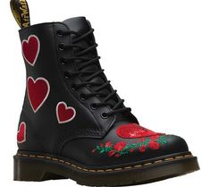 aa75b03b629208 Dr. Martens Women s 1460 Pascal Hearts Ankle Bootie