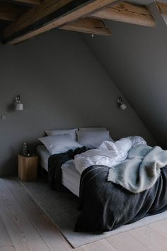 Bedroom with dark colored wall   Our Food Stories