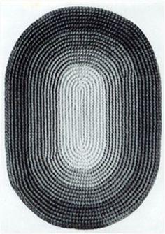 Vintage Oval Rug
