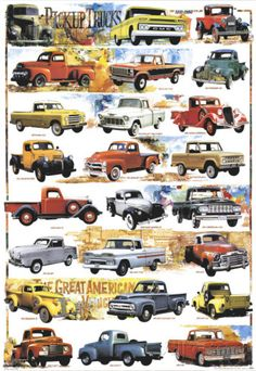 Pick-Up Trucks, 1931-1980 Poster at AllPosters.com