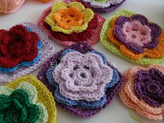 ElenaRegina wool: Fiorellini colorati