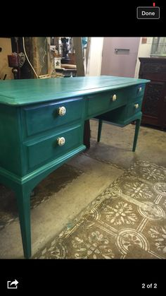 Stag Minstrel Dressing table Painted in Annie Sloan Florence