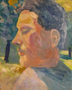 "Jussi Vaarala: "" The more realism and ethics, the better"": Man in sunny park, 31x43 cm"