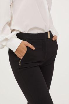 Suit trousers - Black - Ladies | H&M 2 Trouser Suits, Trousers, Pants, Fashion Online, Black Women, Lady, Shopping, Women Pants, Women's Pants