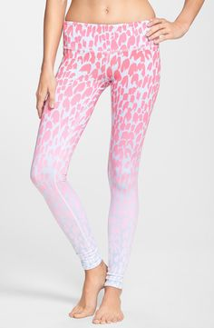 These pink airbrushed leggings are awesome.