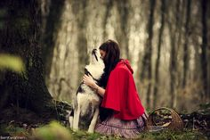 Little red riding hood 7 by bekwa on DeviantArt Wolf Pictures, Art Pictures, Little Red Hood, Poetry Photos, Red Ridding Hood, Conceptual Photography, Photography Ideas, Horses And Dogs, Human Art