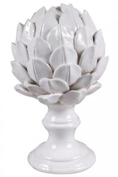 Ceramic Artichoke Finial - Table Accents - Home Accents - Home Decor | HomeDecorators.com