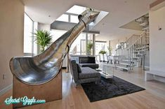 Slide in house… My inner child always comes out when I see these kind of designs