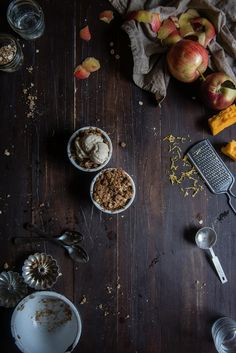 Cheddar brown butter apple crumbles (recipe) / by Two Red Bowls