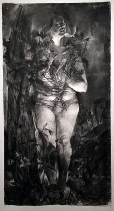 Melanie Johnson (Kansas City, MO), charcoal on Arches