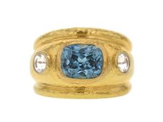 Elizabeth Locke Blue Zircon and Moonstone Puffy Cigar Band Ring Jewelry Rings, Jewelery, Fine Jewelry, Cigar Band, Custom Jewelry Design, Blue Zircon, Unique Rings, Ring Designs, Band Rings