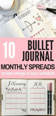 Need inspiration for your monthly spread? Check out this list of 10 Monthly Spreads to try in 2018! Get inspired by these talented bullet journalists so you can have your most productive year yet.