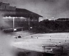 Ibrox floodlight for the 1st time 1953