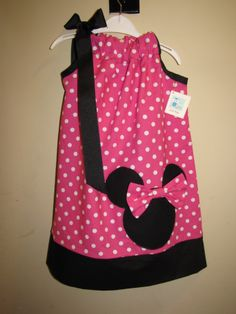 Minni Mouse Pillowcase Dress by Little Pickle www.facebook.com/Little.Pickle.Store