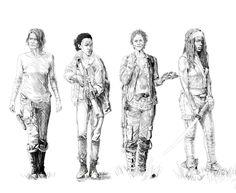 THE WOMEN OF THE WALKING DEAD.
