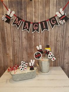 Magic Show Banner, Magician Birthday Party - Christina Acosta Gomez - Magic Show Banner, Magician Birthday Party - Birthday Party Images, Glitter Birthday Parties, Magic Birthday, Birthday Party Decorations, Birthday Ideas, 5th Birthday, Magic Decorations, Magician Party, Magic Day