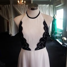 New gown - Danica ❤️ #wedding #dress #gown #boutique #bride #online #shop #summer #bellebridesmaid #pretty #bridetobe #bridalparty #bridesmaids #dresses #bridesmaiddress #blacklace #dessygroup #aftersix #new #ivory #lace #beautiful #newarrival #halterneck