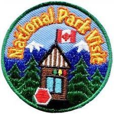 National Park Visit Embroidered Iron On Patch Badge Emblem Scouts Guides (Ebay, 2014)