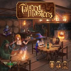 Cover Art from Tavern Masters fantasy card game by Dann Kriss. Art by Galen Ihlenfeldt. Dann Kriss Games LLC ® All Rights Reserved Different Races, Single Player, Magic The Gathering, Cover Art, Card Games, Serenity, Disney Characters, Fictional Characters, Entertaining