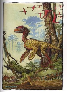 Guanlong by William Stout. #dinosaur #paleoart