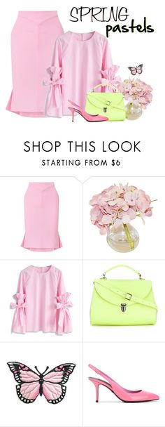 """pastels in bloom"" by rvazquez ❤ liked on Polyvore featuring Roland Mouret, The French Bee, Chicwish, The Cambridge Satchel Company, Dolce&Gabbana, Spring, dolceandgabbana, pastel and bellsleeves"