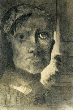 """False Glory, 1885, Odilon Redon """