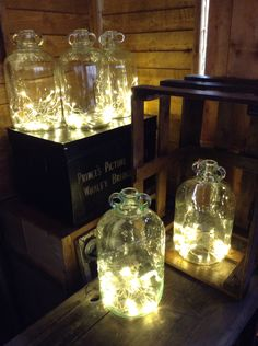 Our beautiful glass light bottles