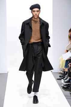 the beret look. margaret howell fall 2018.