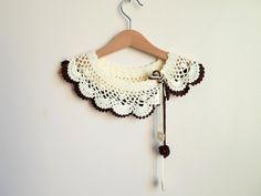 Collar Necklace double layer   Peter Pan Collar by NMNHANDMADE, $39.00