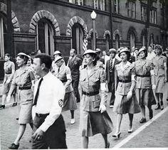 1943 1st  Ward Unit of the Air Raid Warners March in Grafton WV