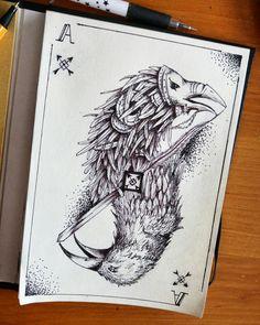 As crow #crow #as #cart #bird #art #hobby #draw #drawing