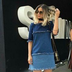 Dress denim divoo!! #apaixonada #inloveporele❤️ #lovejeans #lojabombandodenovidades #pirandoo #tdlindoo #coleçãonova #Fermodas #whats (17)99747-3515