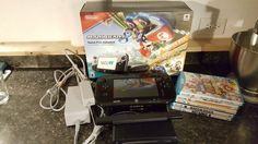 Nintendo Wii U Deluxe 32 GB Black Console with Mario Kart 8 and Extra Games! #Nintendo
