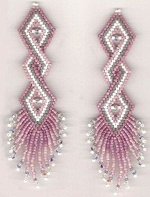 Double Helix Earrings Pattern Beaded Earring Patterns Tutorials