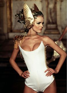 Eva Herzigova at Givenchy Haute Couture Spring/Summer 1997, by Alexander McQueen