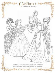 Cinderella evil step sisters free printable
